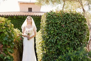 Lace Column Wedding Gown With Cap Sleeves 1