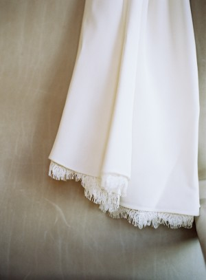 Lace Edging on Bridal Gown