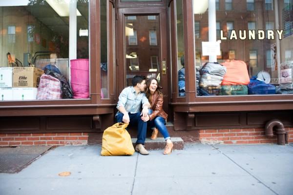 Laundromat Engagement Photo 6