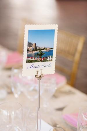 Monte Carlo Photo Reception Table Marker