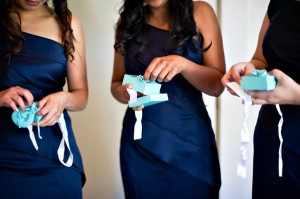 Navy Silk Bridesmaids Dresses