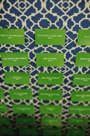 Navy and Kelly Green Reception Seating Chart 1