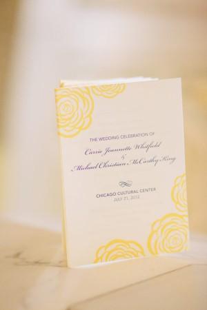 Navy and Yellow Ceremony Program