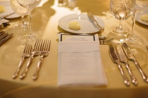 Navy and Yellow Reception Menu
