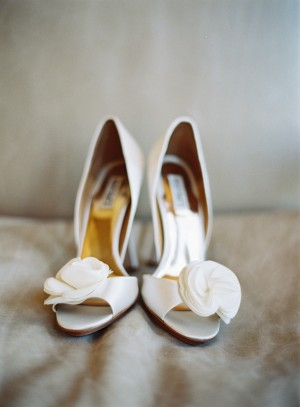 Open Toe Bridal Shoes With Roses