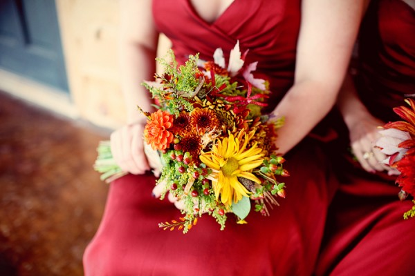Orange and Yellow Fall Bouquet