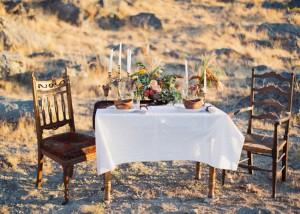 Outdoor Desert Inspired Wedding Tablescape