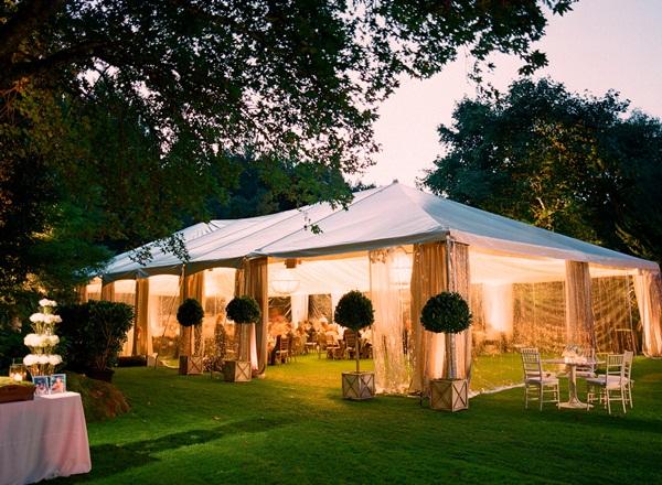 Outdoor Tent Wedding Reception