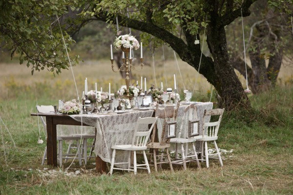 vintage outdoor wedding decorations antique pink and silver tabletop from danielle pasternak 8291