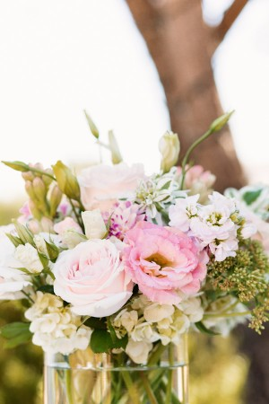 Pale Pink and Ivory Reception Centerpiece