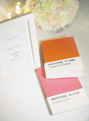 Pantone Wedding Guest Books