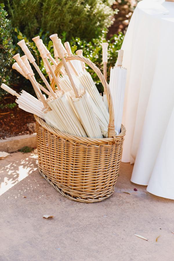 Paper parasols for wedding