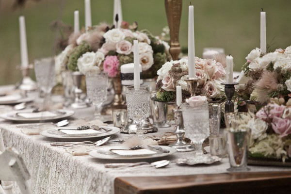 Pink And White Tablescape Ideas