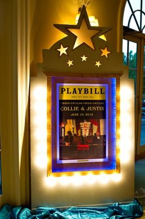 Playbill Theatre Wedding Inspiration