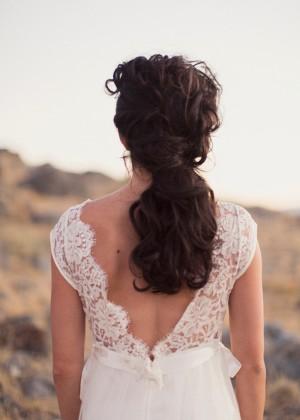 Pony Tail Wedding Hairstyle