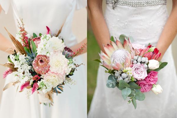 Pretty Protea Wedding Bouquets