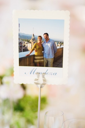 Reception Table Marker With Couple Photo