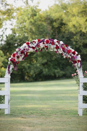Red Rose Wedding Ceremony Arch