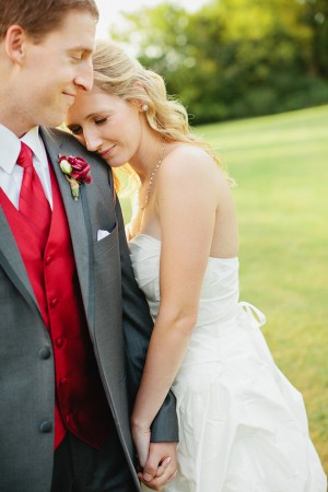 Red Tie and Vest For Groom