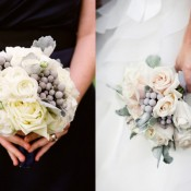 Rose and Silver Brunia Bouquets