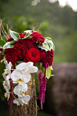 Roses and Orchids Ceremony Decor
