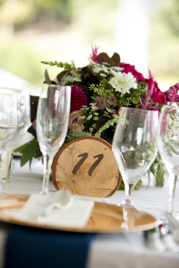 Round Bark Reception Table Markers Elizabeth Anne Designs The - Restaurant table markers