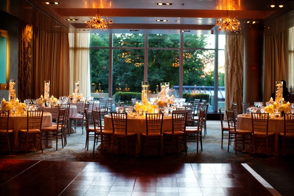 Round Reception Tables With Bamboo Chairs