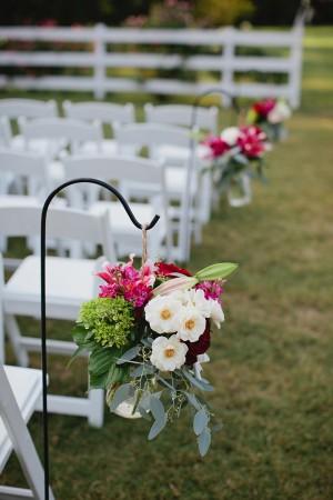 Shephard Hook Wedding Ceremony Decor