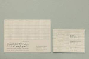 Simple Modern Letterpress Wedding Invitation