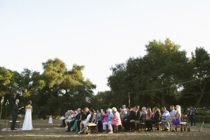 Simple Outdoor Vineyard Wedding Ceremony