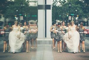 Smokey Gray Bridesmaids Dresses
