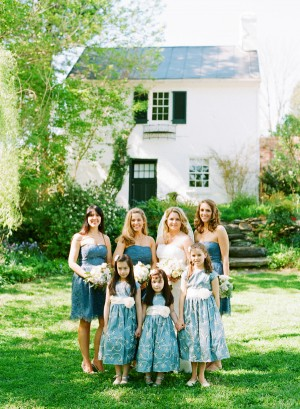 Strapless Blue Bridesmaids Dresses