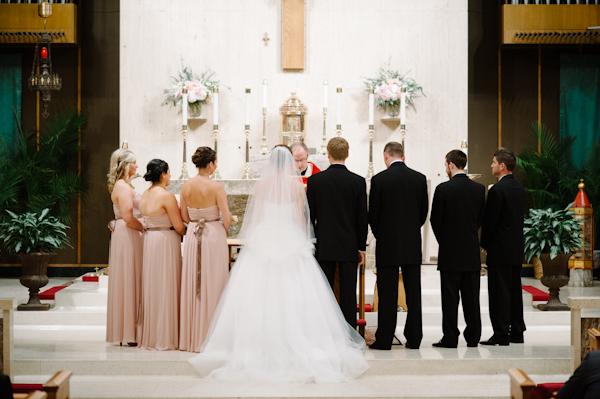 Strapless Blush Colored Bridesmaids Dresses
