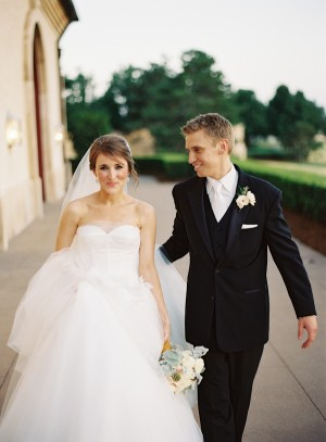 Strapless Bridal Gown With Sweetheart Neck