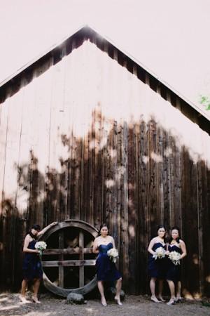 Strapless Navy Bridesmaids Dresses