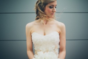Strapless Wedding Gown With Flower Petal Detailing 2