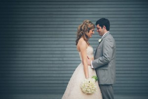 Strapless Wedding Gown With Flower Petal Detailing 5
