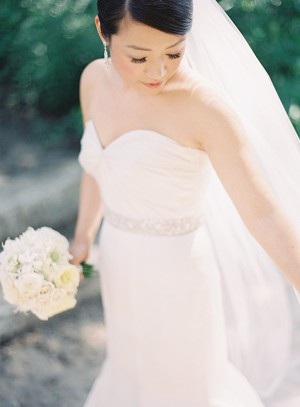 Strapless Wedding Gown With Jeweled Waist Detail