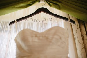 Strapless Wedding Gown on Personalized Hanger