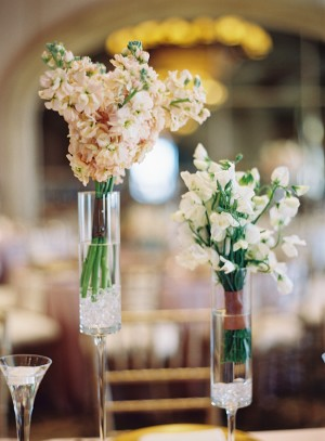 Tall Pink And White Wedding Centerpieces 1