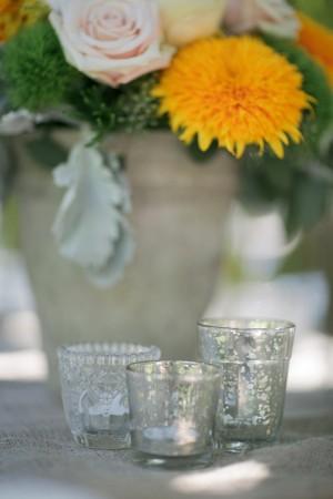 Votive Candle Wedding Reception Decor