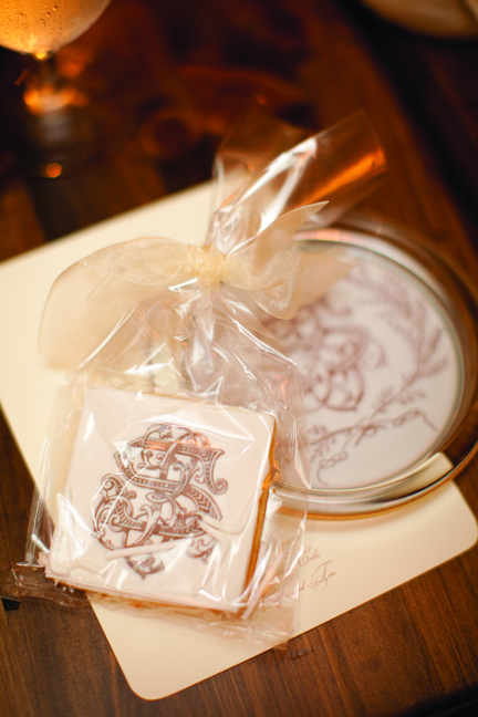 Wedding Favor Cookies With Cipher