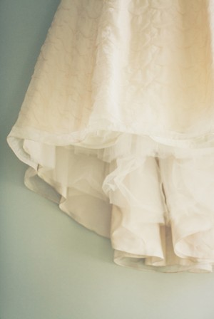 Wedding Gown With Flower Petal Detailing
