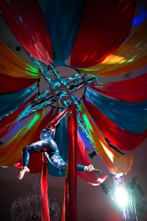 Wedding Reception Circus Dancers
