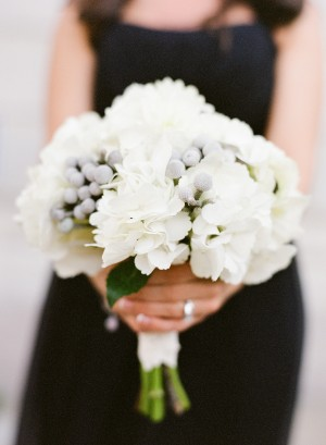 White and Gray Wedding Bouquet