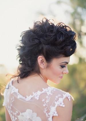 Wild Mohawk Bridal Hair