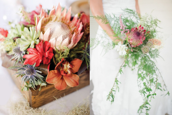 Wild and Natural Wedding Flowers