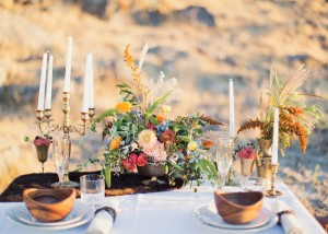 Wild and Romantic Wedding Tablescape