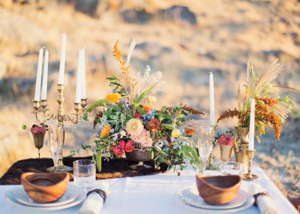 Wild and Romantic Wedding Tablescape