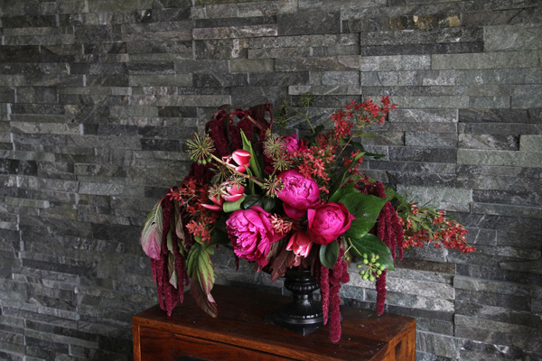 amaranthus pink modern weddingflowers